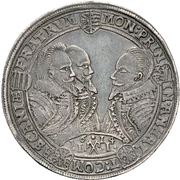 1 Thaler - Johann Georg I; Christina I. August, Rudolf and Ludwig – avers