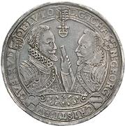 1 Thaler - Johann Georg I; Christina I. August, Rudolf and Ludwig – revers