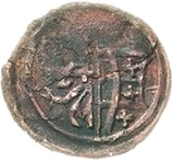 1 Heller - Christian I., August, Rudolf, Ludwig 1618-1621 and Johann Casimir (Kipper) – avers
