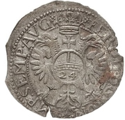 24 Kreuzer Christian I., August, Rudolf and Ludwig (Kipper) – revers
