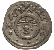 1 Dreier - Christian I., August, Ludwig, Johann Casimir, Georg Aribert and Johann (Kipper) – revers