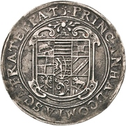 ½ Thaler - Christian I., August, Ludwig, Johann Casimir, Georg Aribert and Johann – avers