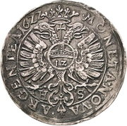 ½ Thaler - Christian I., August, Ludwig, Johann Casimir, Georg Aribert and Johann – revers