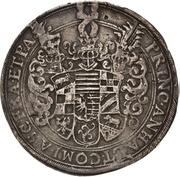 1 Thaler - Christian I., August, Ludwig, Johann Casimir, Georg Aribert and Johann – avers