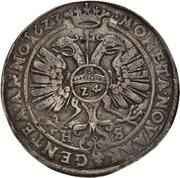 1 Thaler - Christian I., August, Ludwig, Johann Casimir, Georg Aribert and Johann – revers