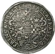 1 Thaler - Christian I., August, Ludwig, Johann Casimir and Georg Aribert – avers