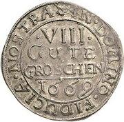 8 Gute Groschen - Johann Georg II., Victor Amadeus, Wilhelm, Carl Wilhelm and Emanuel Lebrecht – revers