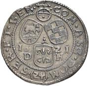 24 Kreuzer - Christian I. August, Rudolf, Ludwig and Johann Casimir – revers