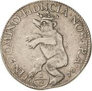 ⅔ Thaler - Johann Georg II., Viktor Amadeus, Wilhelm, Carl Wilhelm and Emanuel Lebrecht – revers