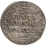 1 Groschen - Johann Georg II., Viktor Amadeus, Wilhelm, Carl Wilhelm and Emanuel Lebrecht – revers