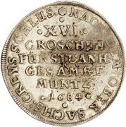 16 Groschen - Johann Georg II., Viktor Amadeus, Wilhelm, Carl Wilhelm and Emanuel Lebrecht – revers