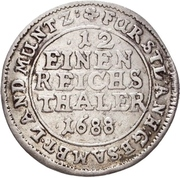 1/12 Taler - Johann Georg II., Viktor Amadeus, Wilhelm, Carl Wilhelm and Emanuel Lebrecht – revers