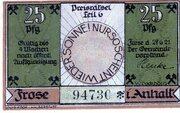 25 Pfennig (Frose) – avers