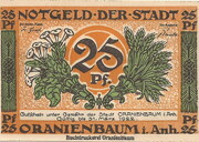 25 Pfennig (Oranienbaum ) – avers