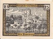 25 Pfennig (Rieder am Ostharz) – revers