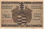 10 Pfennig (Ballenstedt) – avers