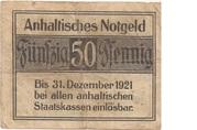 50 pfennig (Anhaltische Finanzdirektion) – revers