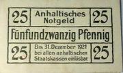 25 pfennig (Dessau) – revers