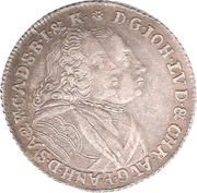 ⅔ Taler - Johann Ludwig & Christian August – avers