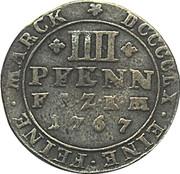 4 pfennig Friedrich August – revers