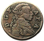1 heller Friedrich August – avers