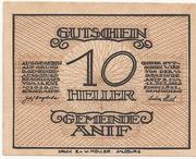 10 Heller (Anif) – avers