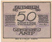 50 Heller (Anif) – avers