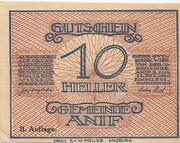 10 Heller (Anif) - 2. Auflage – avers