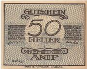 50 Heller (Anif) - 2. Auflage – avers