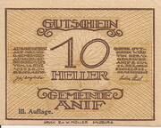 10 Heller (Anif) - 3. Auflage – avers