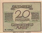 20 Heller (Anif) - 3. Auflage – avers