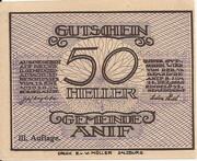 50 Heller (Anif) - 3. Auflage – avers
