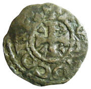 Denier du comté d'Anjou - Foulques IV (1060-1109) ou Foulques V (1109-1129) – avers