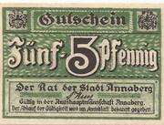 5 Pfennig (Annaberg) – avers