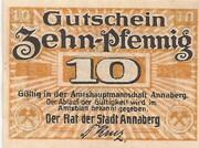 10 Pfennig (Annaberg) – avers