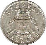 5 Centimes - Union Commerciale & Industrielle - Annonay [07] – avers