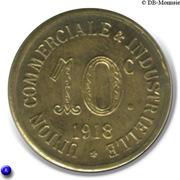 10 Centimes Union Commerciale Industrielle Annonay [07] - ESSAI – revers