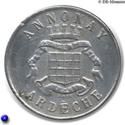 25 Centimes Union Commerciale Industrielle - Annonay [07] – avers