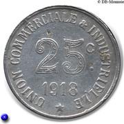 25 Centimes Union Commerciale Industrielle - Annonay [07] – revers