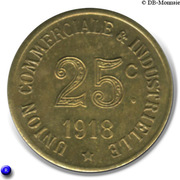 25 Centimes Union Commerciale Industrielle Annonay [07] - ESSAI – revers