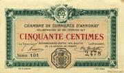 50 centimes - Chambre de commerce d'Annonay [07] – avers