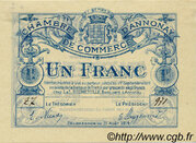 1 franc - Chambre de commerce d'Annonay [07] – avers