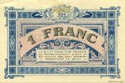 1 franc - Chambre de commerce d'Annonay [07] – revers