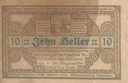 10 Heller (Antiesenhofen) -  revers