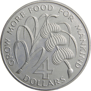 4 dollars (FAO) – revers