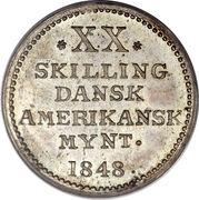 20 skilling - Frederik VII – revers