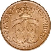 ½ cent - 2½ Bit - Christian IX – avers