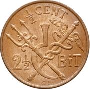 ½ cent - 2½ Bit - Christian IX – revers