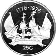 25 gulden - Juliana (Bicentenaire de l'indépendance des Etats-Unis) – revers