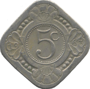 5 cents - Juliana -  revers
